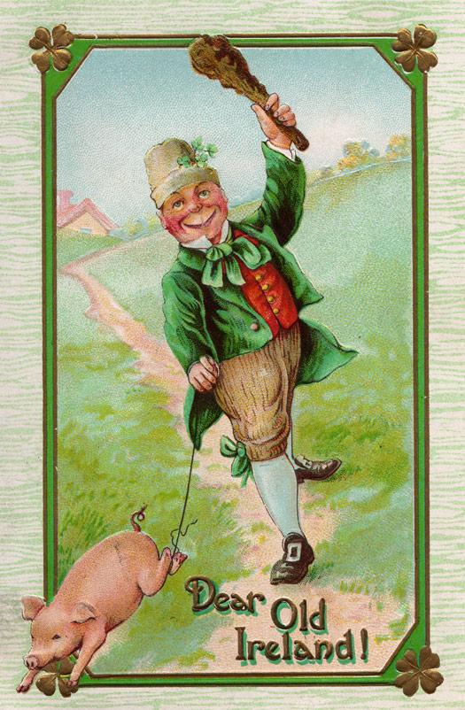 Maximum embellishment st patrick s day vintage postcard