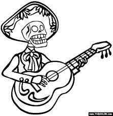skeleton coloring pages to print
