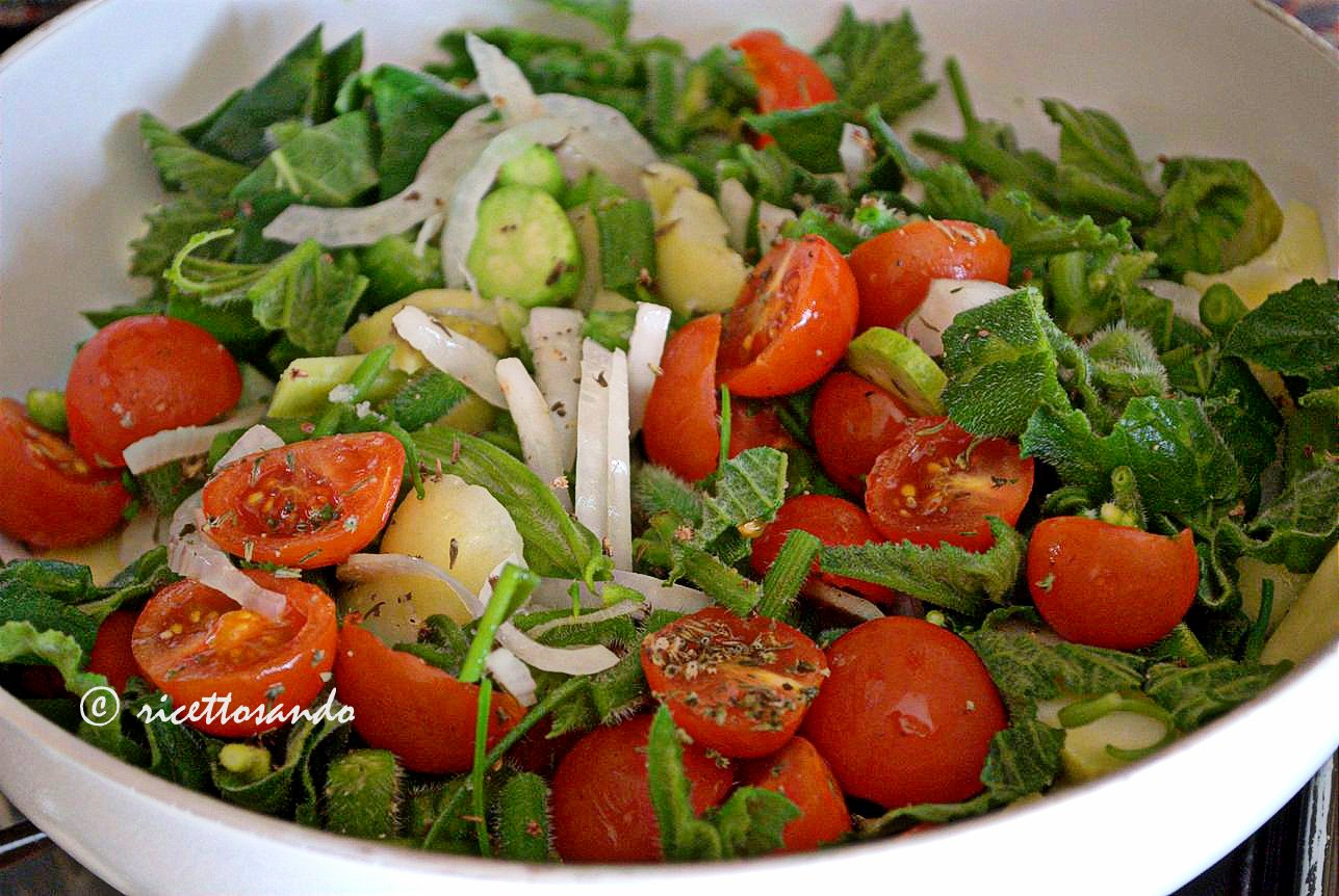 prepariamo i germogli delle trombette di Albenga con le verdure