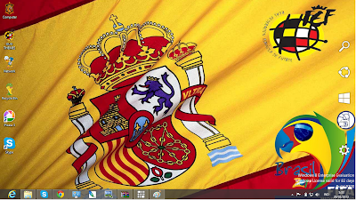 Spain National Football Team Fifa World Cup 2014 Theme For Windows 7 And 8