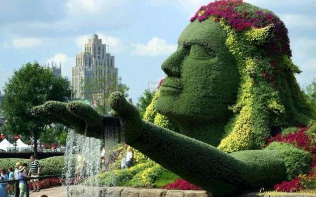 Esculturas verdes para el jard n - Esculturas para jardines ...