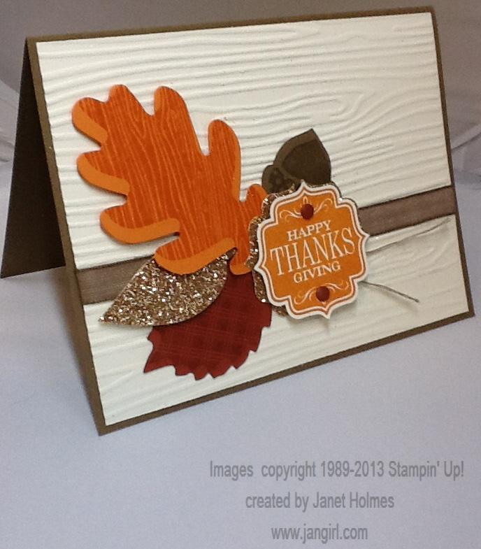 Nice Card Making Ideas Thanksgiving Part - 13: Stampinu0027 Up Tags 4 You Thanksgiving Card