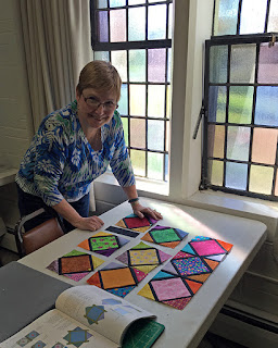 Stained Glass Scrap quilt
