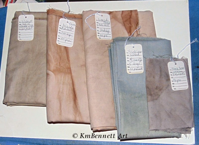Natural dyes fabric pieces 01