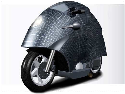 Solar Powered Motorbike By Sunred