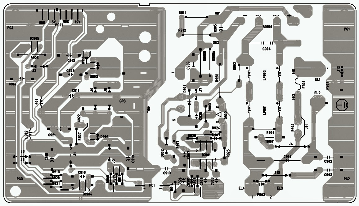Wiring Schematic Diagram  Lg Flatron L1810b Monitor Smps