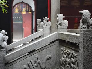 Pabellón interno del templo de lin Fung de Macao