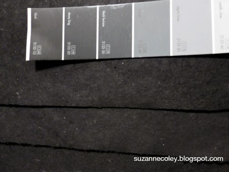 Dyeing paper black