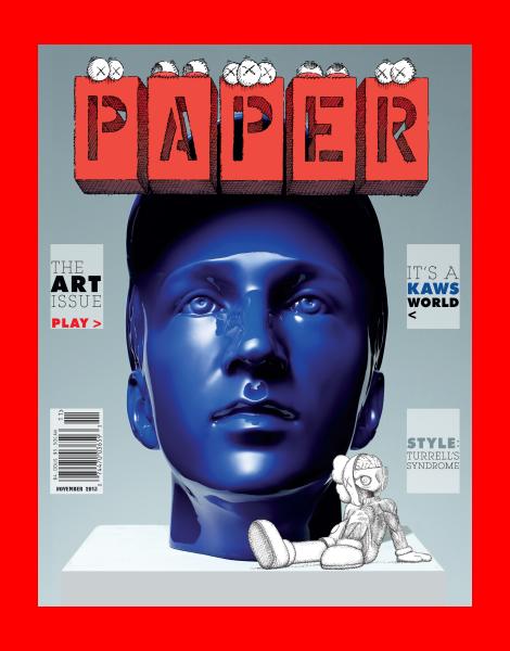 Kaws covers Papermag November 2013