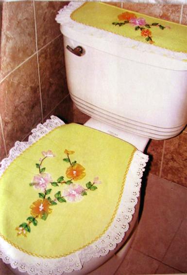 Kurdele nakisi Banyo klovet Takimlari Resim+9 Kurdele Nakışı Banyo Klozet Takımları