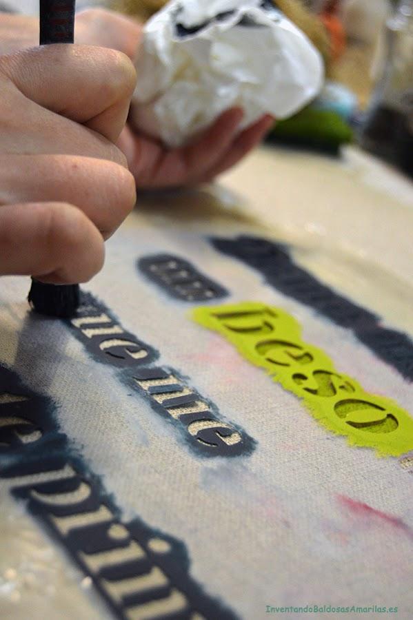 Stencil para decorar manualidades - Como pintar sobre tela ...