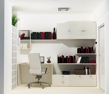 Dise o de interiores dise o de escritorio biblioteca for Diseno de muebles de escritorio