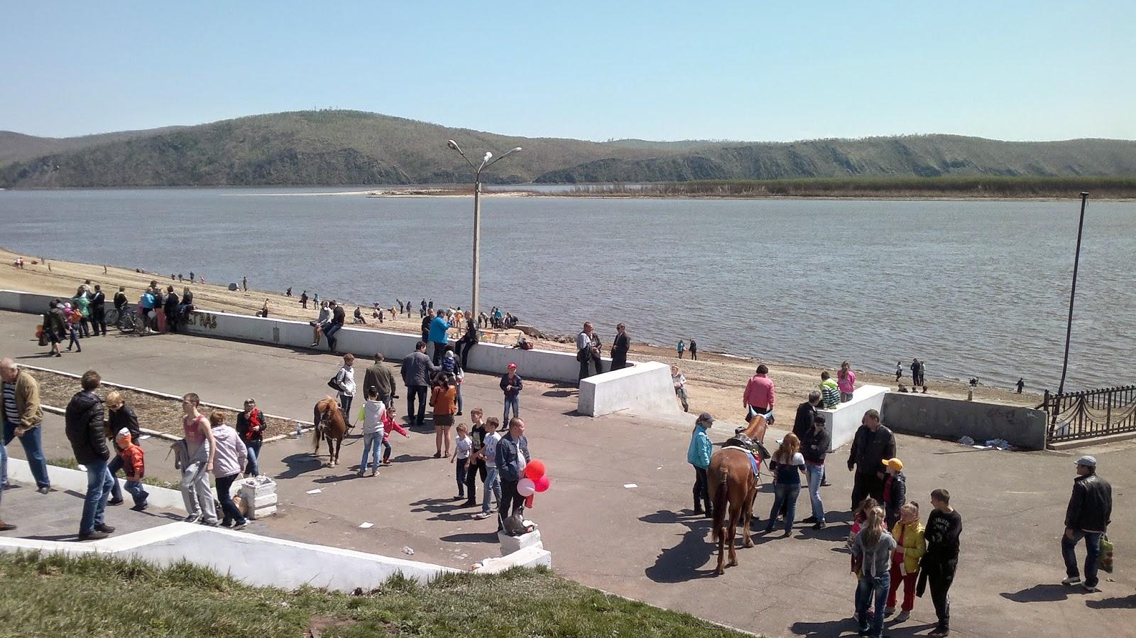 Река Амур в Комсомольске на Амуре