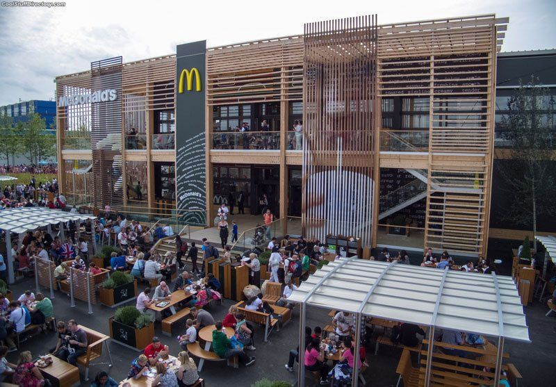 The world's largest McDonald's, Olympic Park, London, UK