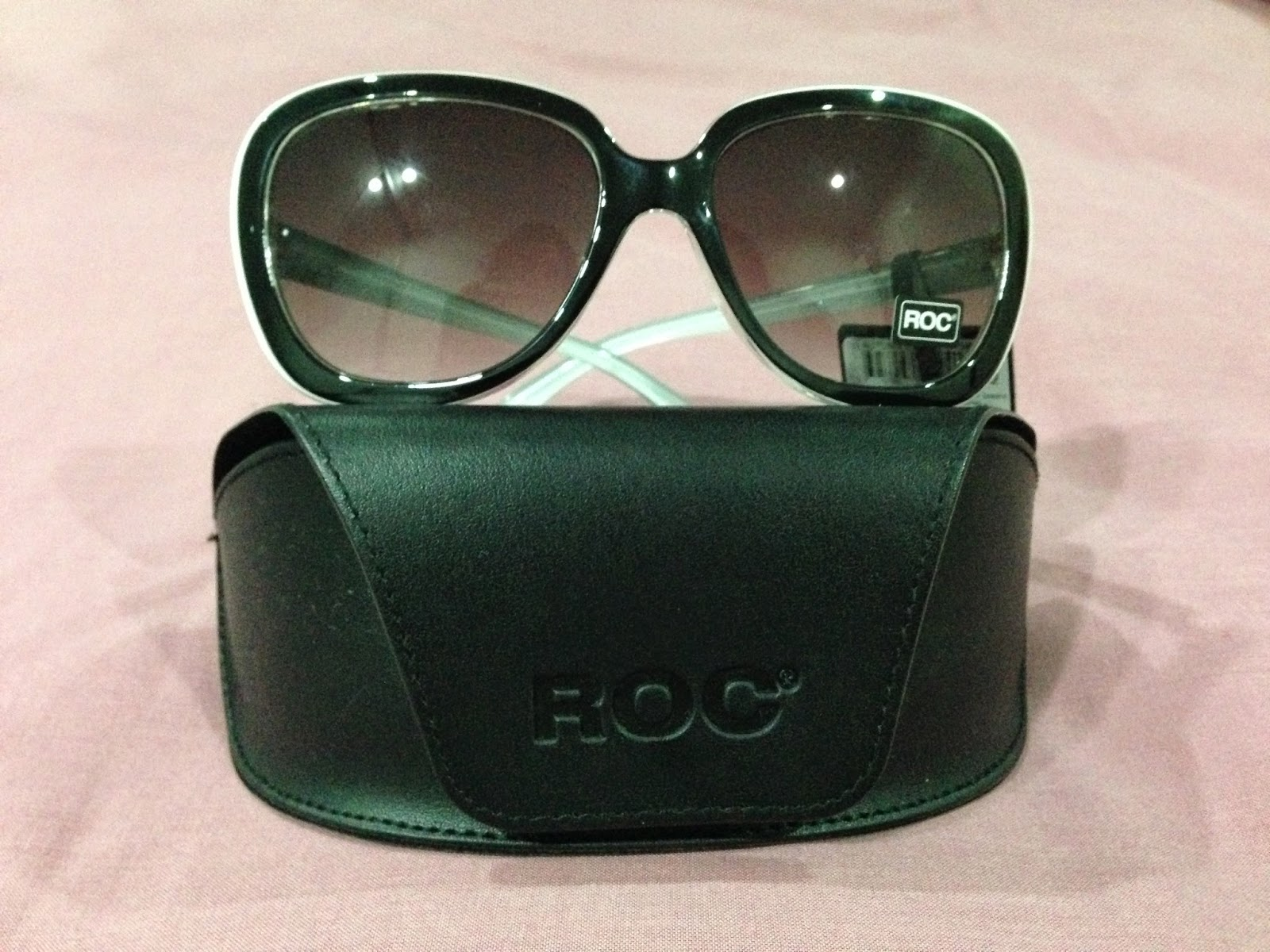 ROC Autumn Black & White sunglasses - butterfly style