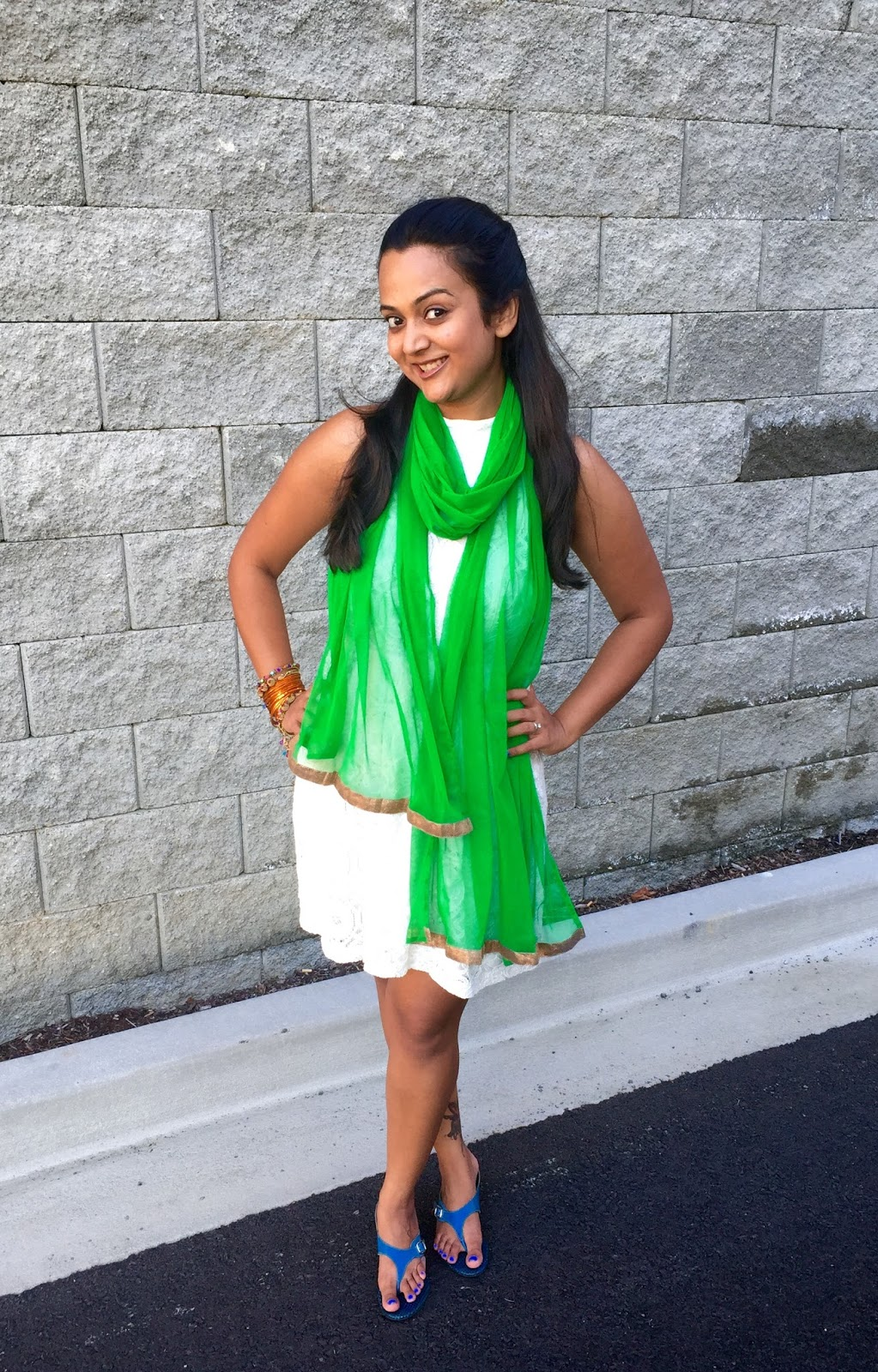 Indian Independence Day Outfit ideas, Tricolor Outfits, Indian Flag Outfits, Saffron, green, Indo Western Look, Ananya in Tricolors