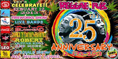 Reggae Pub Chaweng, 25th Anniversary 12th February 2013