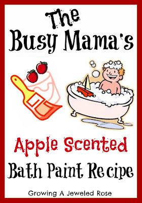 apple scented bath paint recipe- craft recipes