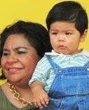 Sonia Cuevas Lideresa CNC Campeche festeja a niños de Entidad. 6may11.