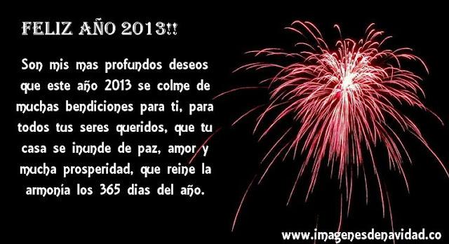 Tarjeta de feliz año 2013