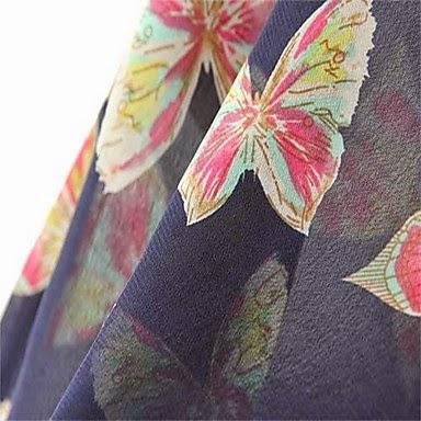 Blusa Informal con Estampado de Mariposas