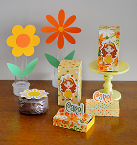 A festa da Carol: ilustração personalizada + papelaria