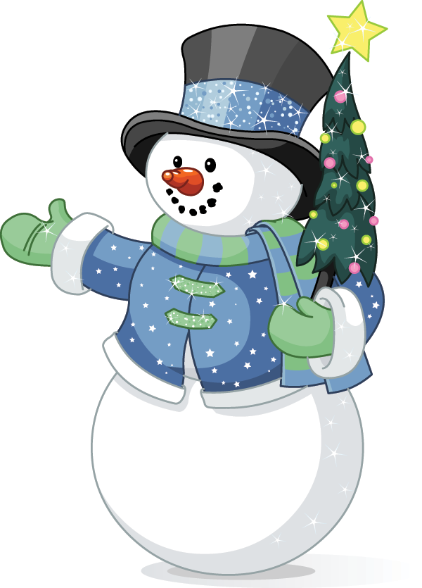 Friendly Snowman Sticker