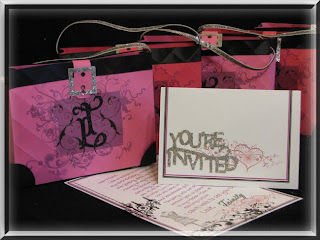 Glitter makes everything Better! Designer Purse Invitation