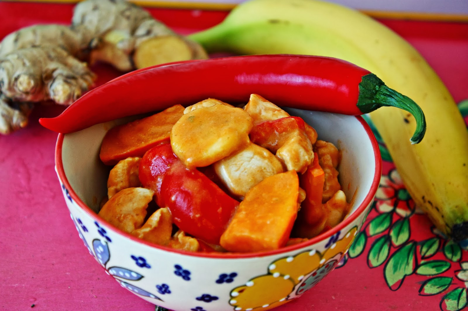 Peanut Butter and Banana Chicken Curry