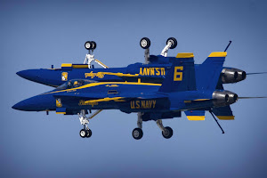 BLUE ANGELS PUT ON A SHOW OF SKILL
