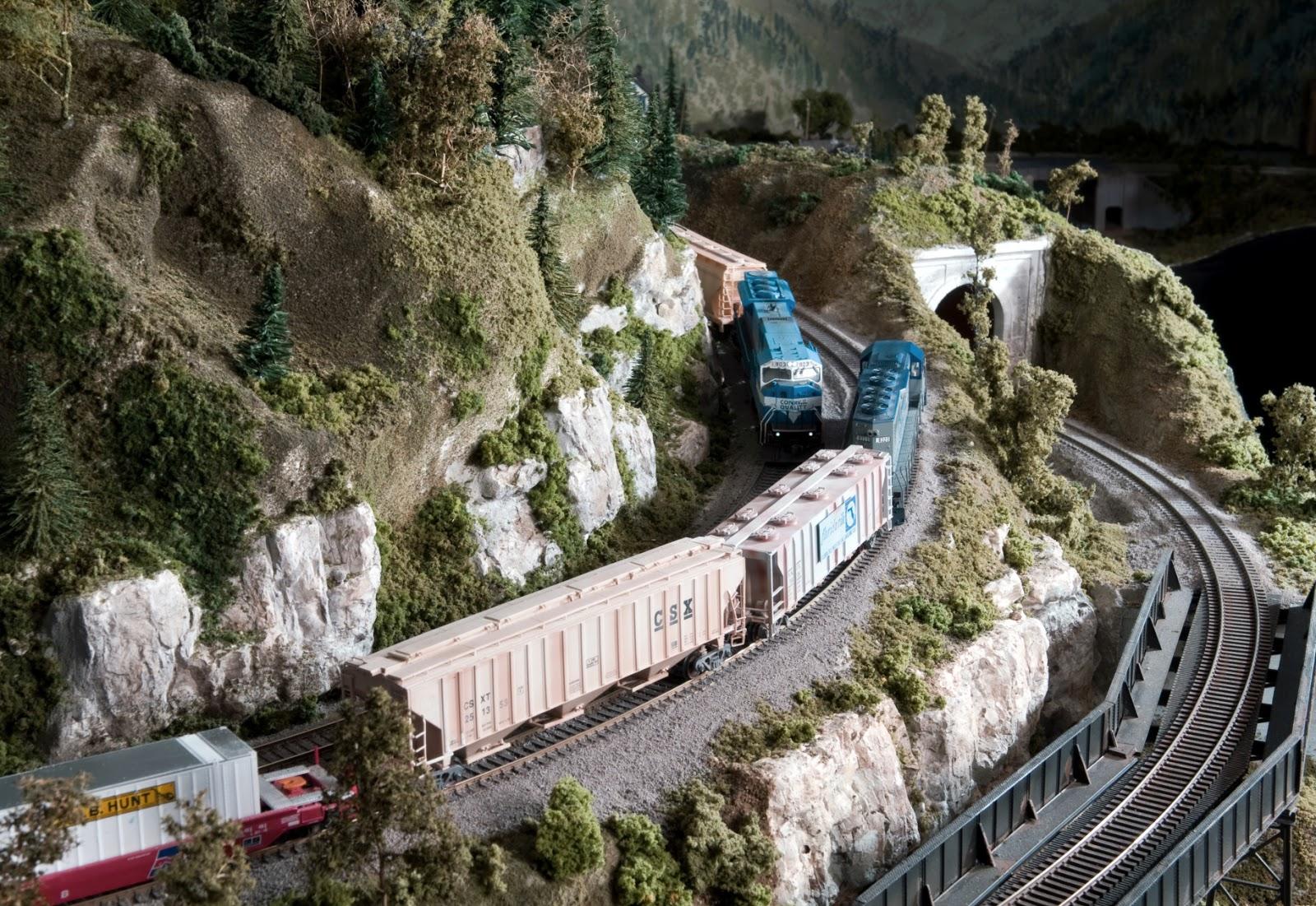 Model train track gauges