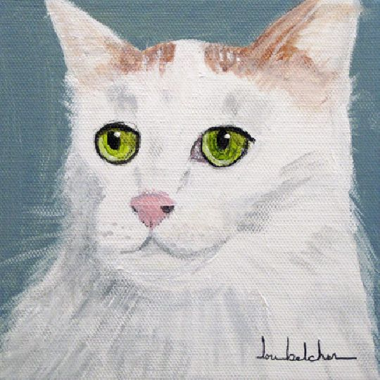 Turkish Van cat painting