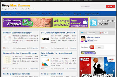 Download Mas Sugeng Blogger Template (Premium)