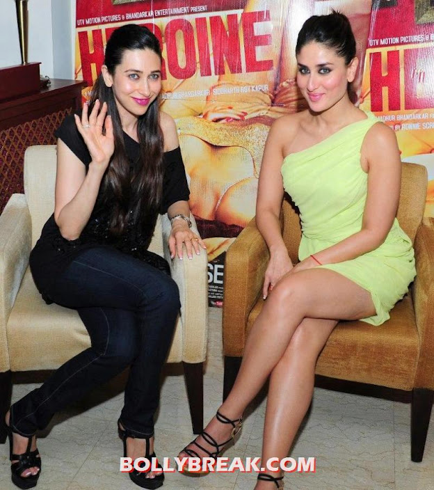  Kareena &amp; Karisma Kapoor promoting Heroine in dubai