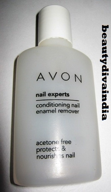 AVON NAIL EXPERTS CONDITIONING ENAMEL REMOVER REVIEW