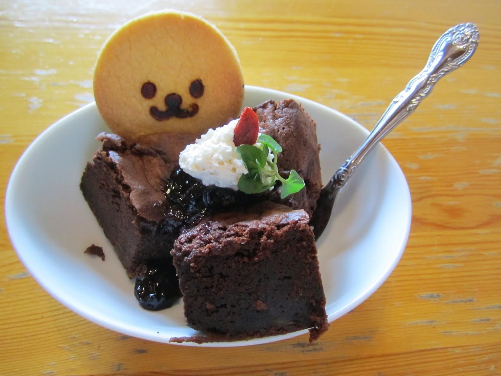 Sweets Set Gobou Gateau Chocolat Nagisa Cafe Hachinohe City スイーツセット ごぼうのガトーショコラ ナギサカフェ 八戸市