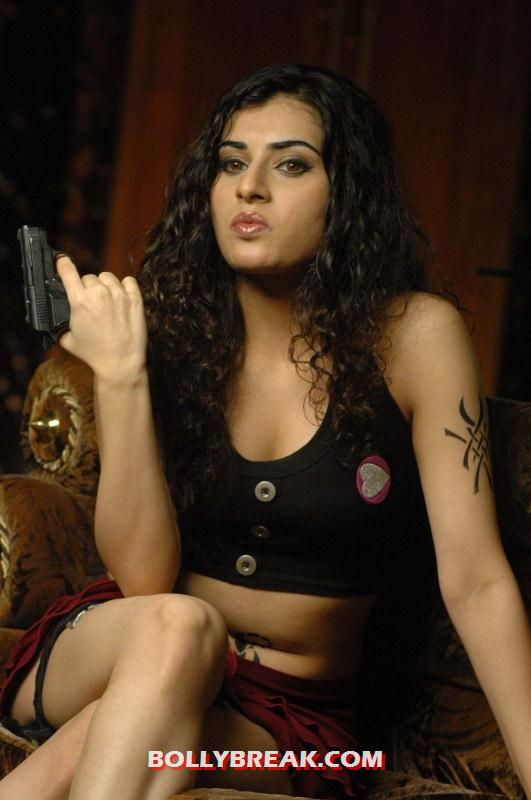 , Archana New Hot Photos In Black Crop Tank Top And Mini Skirt