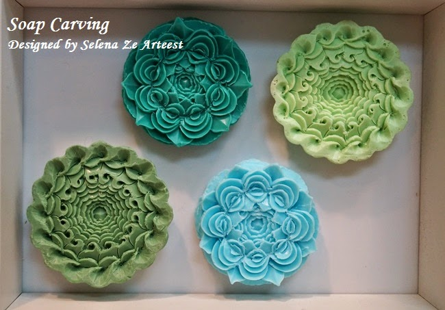 soap carving framed item