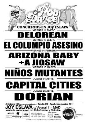 Consigue entradas gratis concierto DELOREAN en Joy Eslava