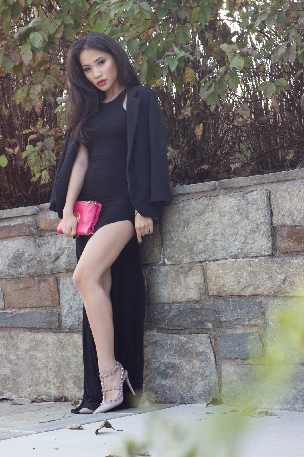valentino rock stud heels, taupe celine phantom bag, melba nguyen, celine phantom bag, sole trekking