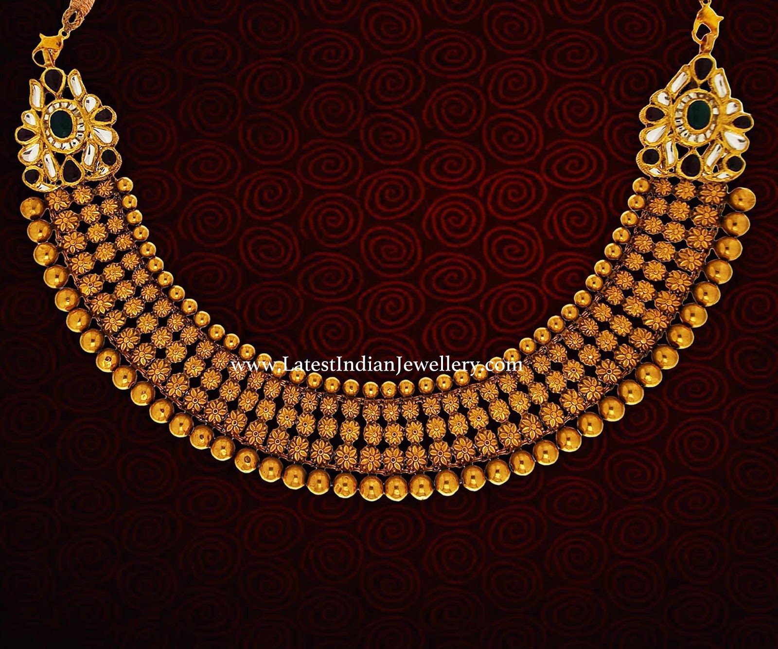 Sophisticated antique gold necklace aloadofball Choice Image