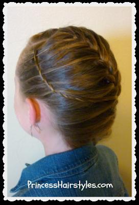 waterfall twist braid and french braid hairstyle