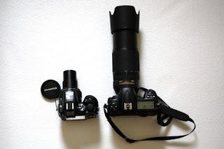 Kamera Nikon dengan Lensa Nikon 70-300mm VR