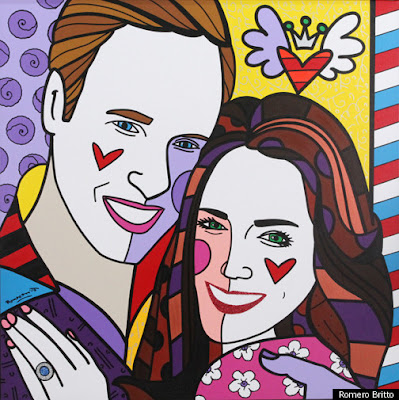 kate william art painting by romero britto