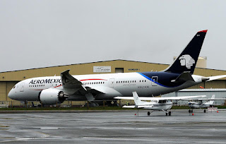 AeroMexico will receive its first Boeing 787 Dreamliner in October 2013