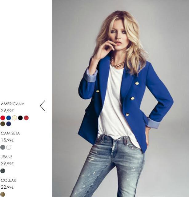 Kate Moss chaqueta azul