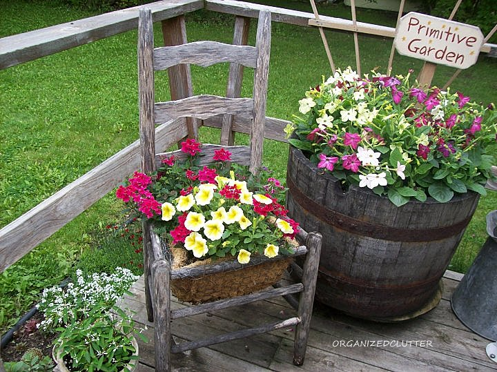 Chair planter ideas organized clutter for Cd market galeria jardin
