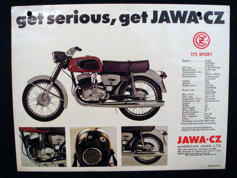Jawa Cz 175 Sport ulotka b