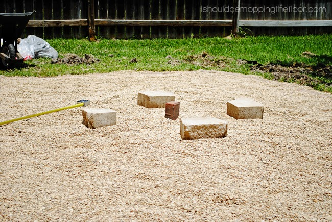 DIY Firepit Patio: Step-by-step photos and instructions to create your own backyard firepit area.