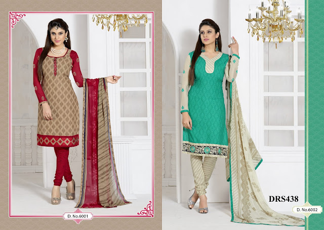 New Cotton With Embroidery Churidar Dress Material
